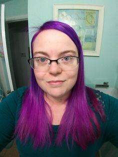 Did this purple to magenta ombre today!