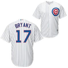 Men's Chicago Cubs Kris Bryant Majestic White Home Cool Base Player Jersey 1