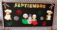 Periódico mural del mes de septiembre September Crafts, Ideas Para, Preschool, Education, Monet, Anchor Charts, Diwali, September Decorations, September