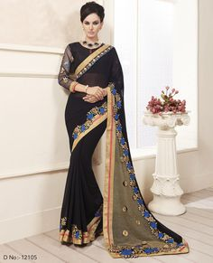 Buy This Black Georgette Heavy Zari Embroidery Work Designer Party Wear Saree. Buy Now:- http://www.lalgulal.com/sarees/black-georgette-heavy-zari-embroidery-work-designer-party-wear-saree-717 Cash On Delivery & Free Shipping only in India.For Other Query Just Whatsapp Us on +91-9512150402 Or Mail Us at info@lalgulal.com.
