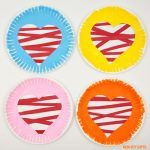 Paper plate and paper strip hearts