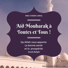Carte bonne fête de Aid à ses amis musulmans et amies musulmanes Adha Mubarak, Eid Al Adha, Message Aid, Beau Message, Bon Ramadan, Eid Mubarek, Ramadan Images, Mubarak Images, Bon Weekend