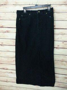 Eddie Bauer Corduroy skirt womens size 10 Tall stretch #EddieBauer #StraightPencil
