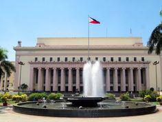 The neo-classical Manila Central Post Office, designed by Filipino architect Juan Marcos de Guzman Arellano and built in Filipino Architecture, Philippine Architecture, Outdoor Kitchen Design, Post Office, Manila, Philippines, Explore, Mansions, House Styles