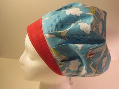 Airplanes Bouffant Scrub Hat surgical cap nurses by sewingzen