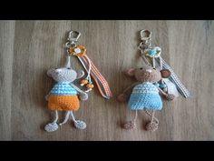 Llaveros Tejidos en crochet - YouTube