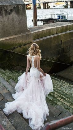 riki dalal fall 2017 bridal strapless plunging sweetheart neckline lightly embellished elegant romantic fit and flare wedding dress razor back long train (1910) bv