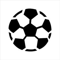 Soccer Ball Stencil - Crafts For Boys Soccer Locker, Soccer Art, Soccer Crafts, Soccer Room, Soccer Tattoos, Football Tattoo, Nike Football, One Stroke Painting, Stencil Painting