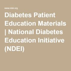 What are some good sources for diabetes patient education handouts?