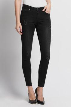 ORSAY JEANS | Skinny black destroy jeans with sequins #mywork #fashiondesigner