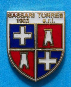 BELLISSIMO DISTINTIVO PIN - SASSARI TORRES CALCIO s.r.l. - cod. 91