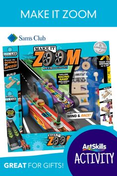 Build your own tension race cars and test them head-to-head in 15 different experiments to see which one will win!