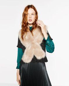 Zara - SMALL FAUX FUR STOLE Details