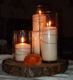 Marriage ceremony Decor, From gorgeous platform to tiny particulars. These tend to be the touches that turn a ceremony plan into fabulous. Beautiful Candles, Best Candles, Diy Wedding, Rustic Wedding, Wedding Ideas, Simple Wedding Centerpieces, Candle Lanterns, Candle Lighting, Light My Fire