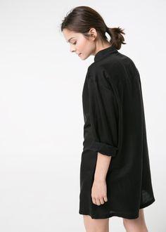 Silk-blend shirt jumpsuit