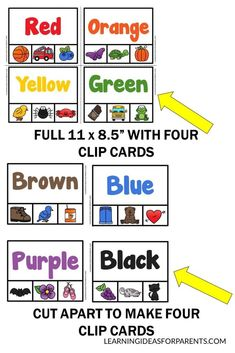 Purple And Black, Brown And Grey, Pre K Activities, Word Puzzles, Photo Storage, Index Cards, Printer Paper, Paper Clip, Fine Motor Skills