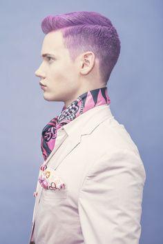 Lavender posh man hair