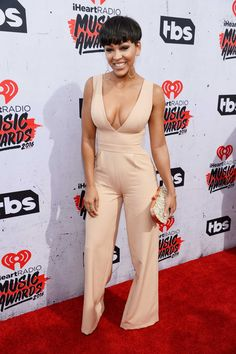 Keke Palmer & Meagan Good Step Out For iHeartRadio Music Awards Photo Keke Palmer and Meagan Good hit the 2016 iHeartRadio Music Awards held at The Forum on Sunday (April in Inglewood, Calif. The two actresses joined Karreuche… Meagan Good Short Hair, Daily Fashion, Fashion News, Fashion 2020, Luxury Fashion, Womens Fashion, Megan Good, Cool Short Hairstyles, Black Actresses