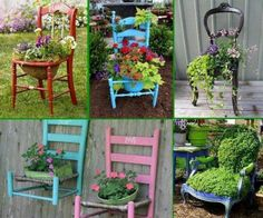 Give your old chair a second chance and turn it into a beautiful and original decoration for your garden