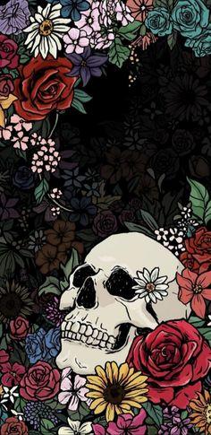Wallpaper art skull wallpaper, skull art ve screen wallpaper