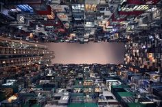 Photographs Offer Mesmerizing Bottom-Up Views Of Hong Kong's Skyscrapers / via @Simon Wright