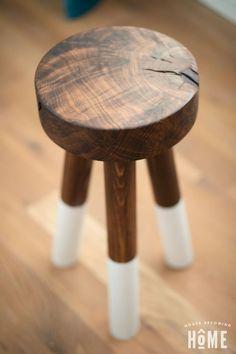 How to make a DIY walnut dip-dyed stool