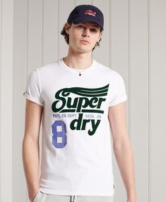 Superdry Mens, Herren T Shirt, Signature Logo, Graphic Tees, Polo Shirt, Short Sleeves, Mens Tops, Tanks, Products