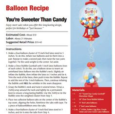 """You're Sweeter Than Candy — The perfect """"just because"""" balloon bouquet."""
