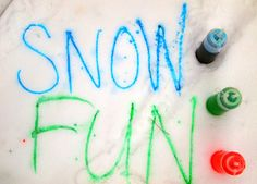 Fun things to do in the snow with kids... or, you know, 22-year-old college students... same thing.