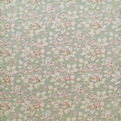 Behind The Pond - Celadon - Florals - Fabric - Products - Ralph Lauren Home - RalphLaurenHome.com