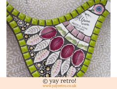 Alpine ware Mosaic Bird (£26.00)