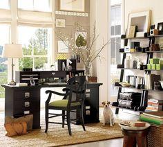 mobilier de bureau à domicile étagères très pratiques