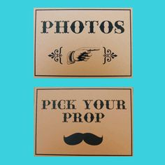Kraft Photo Booth Signs  Set of 3  Photo by PiccadillyPartyCo, $10.00