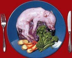 """Just go vegan! It's not """"pork chops"""" it's a dead carcass of a little piggy :'("""