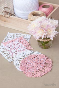 Crochet lace motifs free patterns by Anabelia Craft Design  #anabelia…                                                                                                                                                                                 More