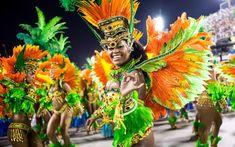Members of Vila Isabel samba school perform during the Carnival at Sapucai Sambadrome in Rio de Janeiro, Brazil. Carnival Parade, Rio Carnival, Carnival Costumes, Carnival Outfits, Samba Rio, Brazil Culture, Celebration Around The World, Festivals Around The World, Blog Voyage