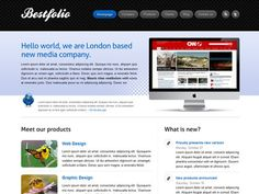 Web template css and html