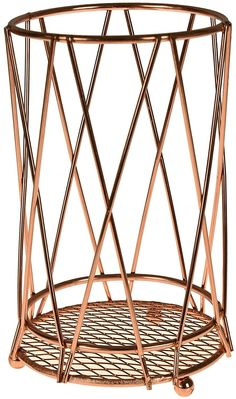ASAB Copper Kitchen Accessories With Geometric Design   Mug Tree Fruit Basket Kitchen Towel Roll Holder Utensil Stand   Strong Copper Plated Iron Wire - Kitchen Cutlery Holder: Amazon.co.uk: Kitchen & Home Copper Tray, Copper Lamps, Copper Kitchen Accessories, Mug Tree, Kitchen Cutlery, Cutlery Holder, Stand Strong, Iron Wire, Roll Holder