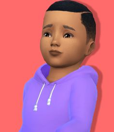 Sims 4 | GtW Baby Fro Shaved #Shysimblr natural hair male toddler hairstyle EP01 converted