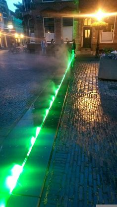 Domplein Light Art Installation, Visit Amsterdam, Landscape Lighting, Utrecht, Water Features, Lighting Design, Cool Pictures, Birth, Travelling