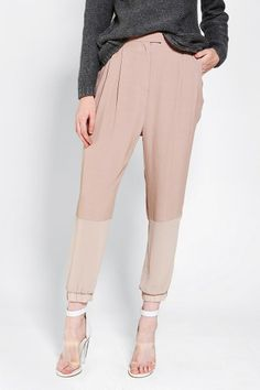 Ask me if I care about drop crotch making me look like I have a saggy diaper. Nope, don't care. // Pins And Needles Colorblock Trouser Pant