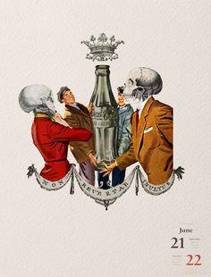 21-22/06/2014 Non revertar inultus Coca-Cola #collage illustration by Gustavo Solana