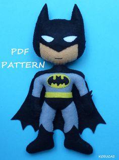 Patrón PDF para hacer un fieltro Batman. por Kosucas en Etsy