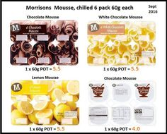 Slimming world, Morrisons mousse syns Aldi Syns, Slimming World Tips, Lemon Mousse, White Chocolate Mousse, Vegetarian Recipes, Healthy Recipes, Morrisons, Babies, Foods