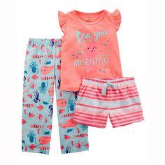 23f319299 Toddler Girl 3-Piece Dinosaur Jersey PJs from Carters.com. Shop ...