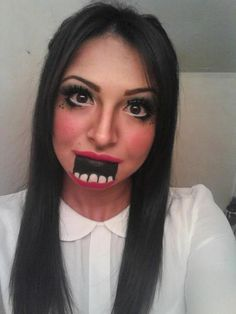 Creepy Ventriloquist Doll http://www.makeupbee.com/look.php?look_id=68214