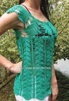 Celeida Artes Hilos: crochet blusa