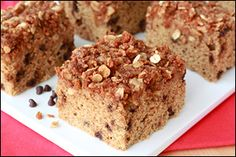 HG's low-calorie chocolate chip coffee cake recipe... PIN & TRY!!!!