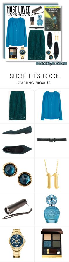 """""""Most Loved Book Character: Nancy Drew"""" by evil-laugh ❤ liked on Polyvore featuring J.Crew, HUGO, Orciani, M&Co, Marc by Marc Jacobs, Eklexic, Natico, Marc Jacobs, Tommy Hilfiger and Tom Ford"""