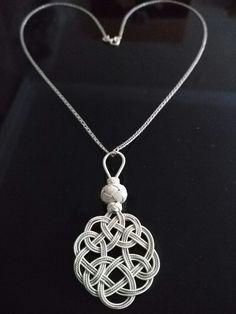 Burgulu tel ve Kazaz teli ile gümüş         kolye